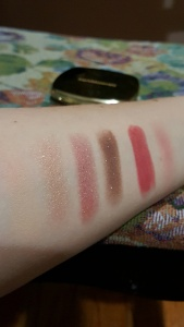 Eyeshadows Lipstick and Blush