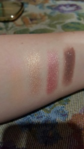 Eyeshadows swatched